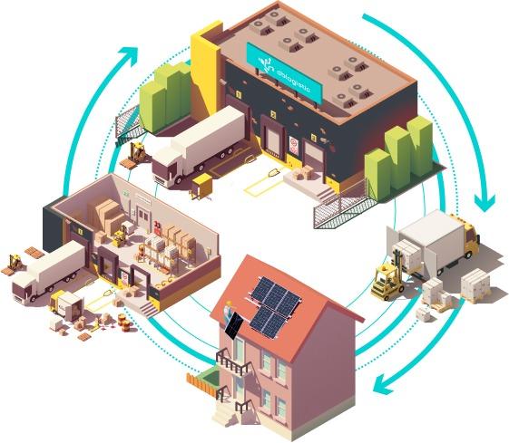schemat instalacji paneli fotowoltaicznych
